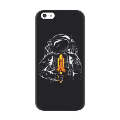 Чехол для iPhone 5c Космонавт с леденцом