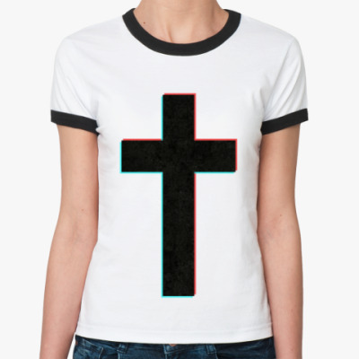 Женская футболка Ringer-T CROSS
