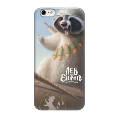 Чехол для iPhone 6/6s Енот-герой