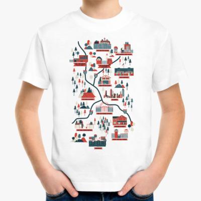 Детская футболка Карта сериала Ходячие мертвецы