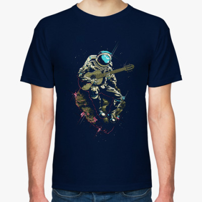 Футболка Космонавт с гитарой