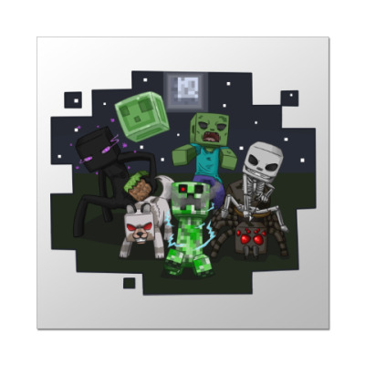 Наклейка (стикер) Minecraft