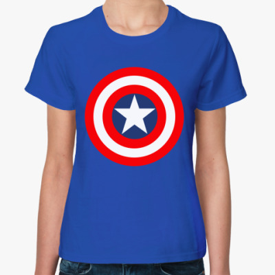 Женская футболка Капитан Америка