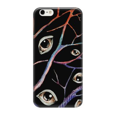 Чехол для iPhone 6/6s глаза, переплетающиеся ветви, деревья