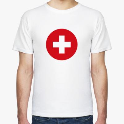 Футболка Switzerland, Швейцария Флаг