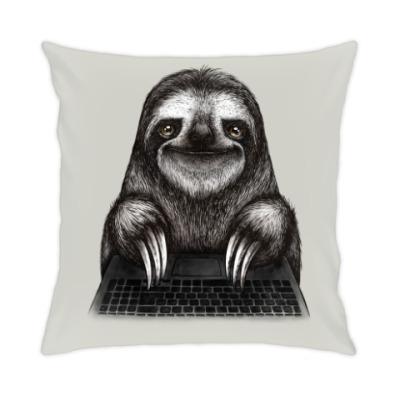 Подушка Ленивец компьютерный