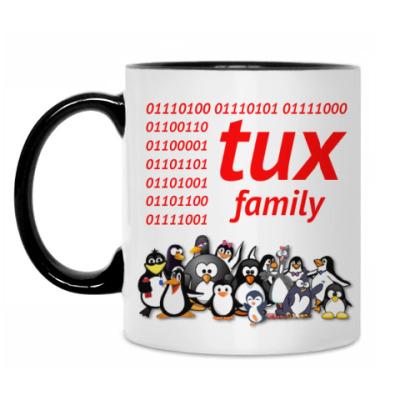 Кружка Tux Family binary