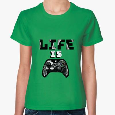 Женская футболка Life is a game
