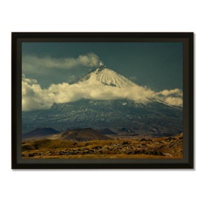 Плакетка Ключевской вулкан, Камчатка