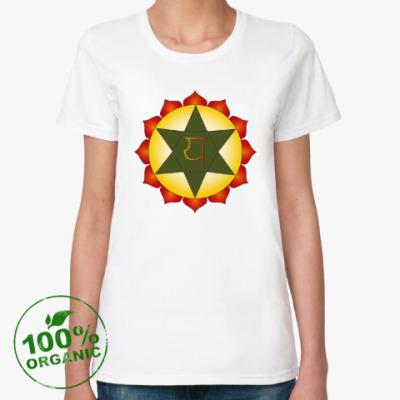 Женская футболка из органик-хлопка Янтра Анахата-чакры
