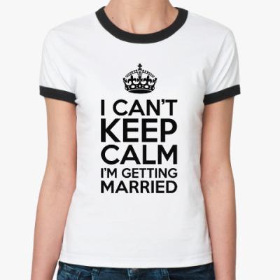 Женская футболка Ringer-T Для невесты на девичник