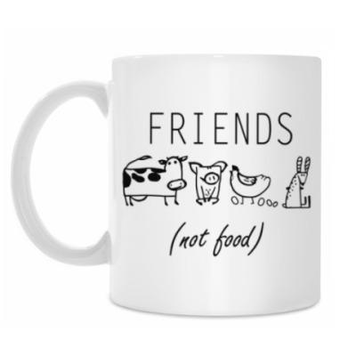 Кружка FRIENDS (NOT FOOD)