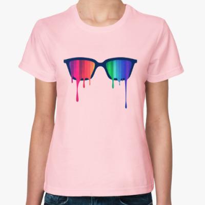 Женская футболка Хипстер: очки