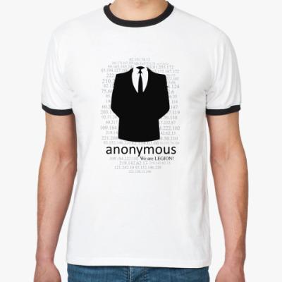 Футболка Ringer-T Анонимус
