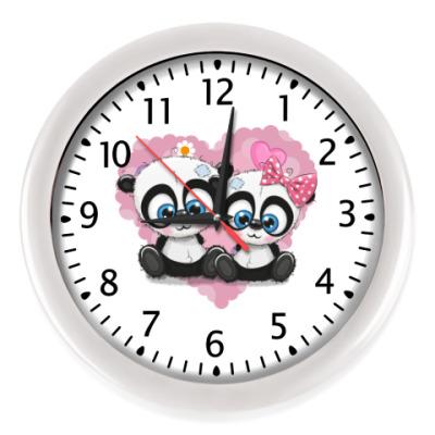 Настенные часы Маленькие панды