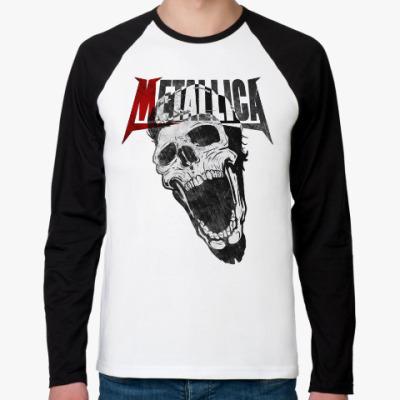 Футболка реглан с длинным рукавом Metallica Skull