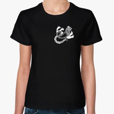 Женская футболка Скифский леопард