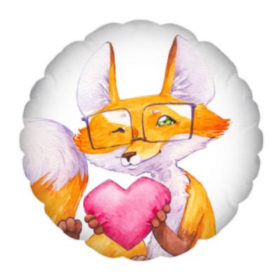 Подушка Лис с сердечком