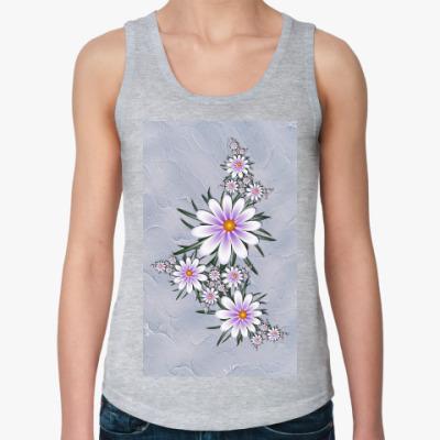 Женская майка Нежные цветы