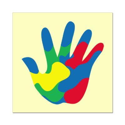 Наклейка (стикер) Отпечаток Руки