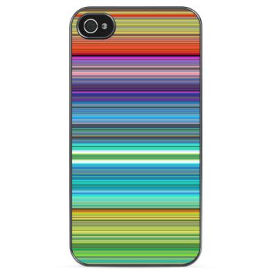 Чехол для iPhone Разноцветные линии
