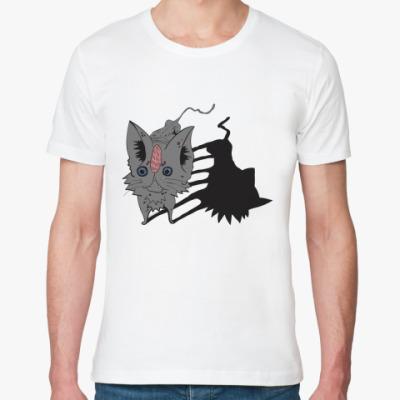 Футболка из органик-хлопка Кот серый