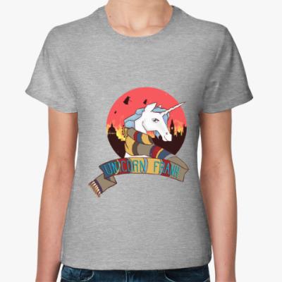 Женская футболка Рождественский Единорог в стиле Доктора Кто