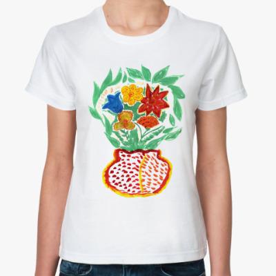 Классическая футболка Букет цветов
