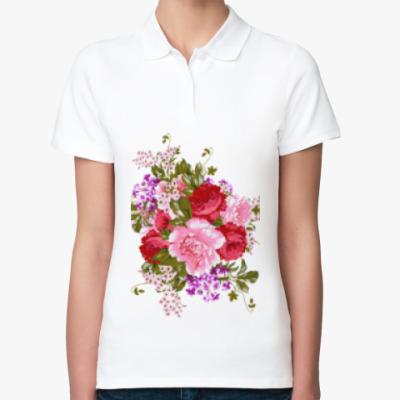 Женская рубашка поло Нежный букет