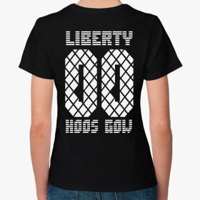 Женская футболка liberty hoosgow (f)
