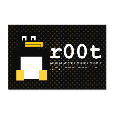 Наклейка (стикер) ROOT binary