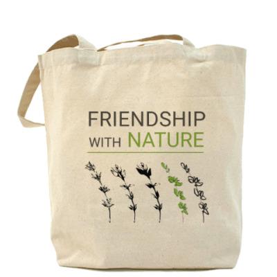 Сумка friendship with nature,  дружба с природой, трава