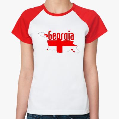 Женская футболка реглан Georgia (Грузия)