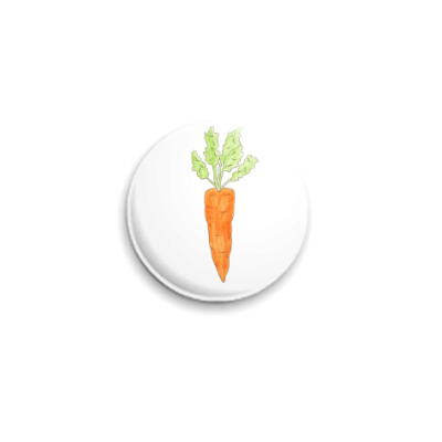 Значок 25мм Морковка