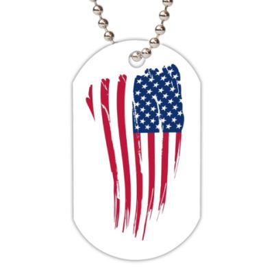 Жетон dog-tag Американский флаг