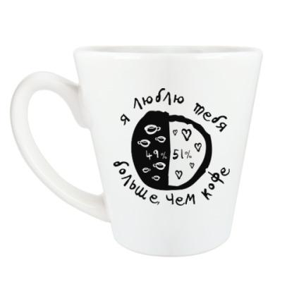 Чашка Латте Я люблю тебя больше, чем кофе