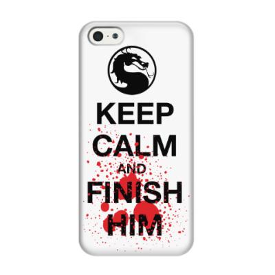 Чехол для iPhone 5/5s Keep Calm and Finish Him
