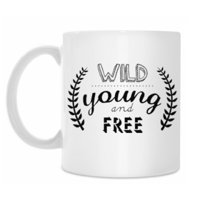 Кружка Wild, young and free