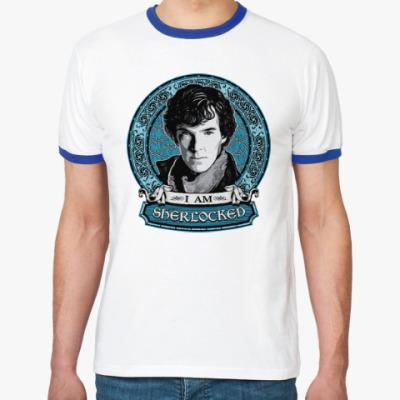 Футболка Ringer-T I am SHERlocked Шерлок Холмс