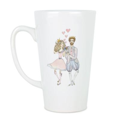 Чашка Латте Принцесса и принц