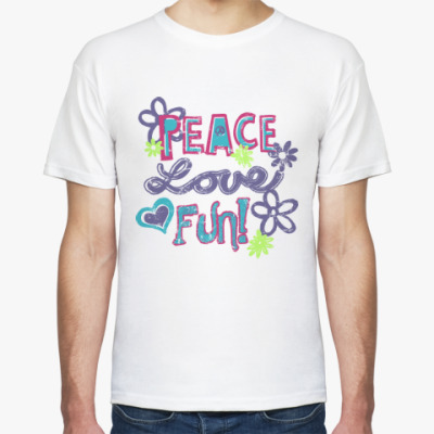 Футболка Мир, Любовь, Веселье!