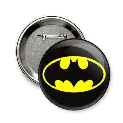 Значок 58мм  58 мм bat_logo