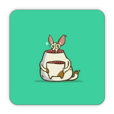 Костер (подставка под кружку) Некот — Пятничный Котик №49