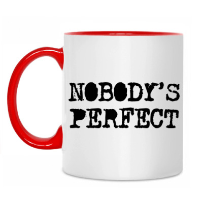 Кружка Надпись Nobody's perfect