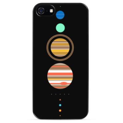 Чехол для iPhone Солнечная система минимализм