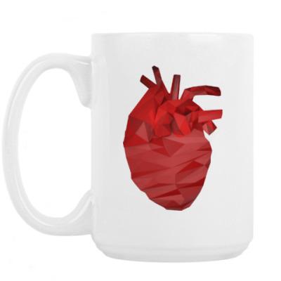 Кружка Сердце 3D