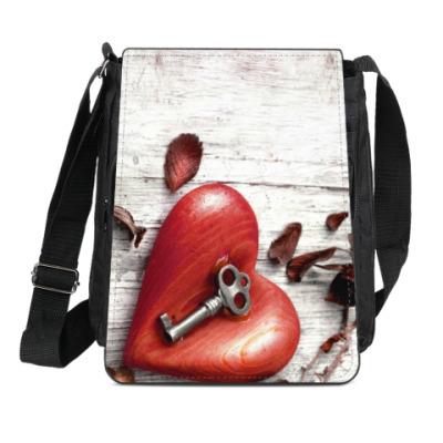 Сумка-планшет 'Ключ от сердца'