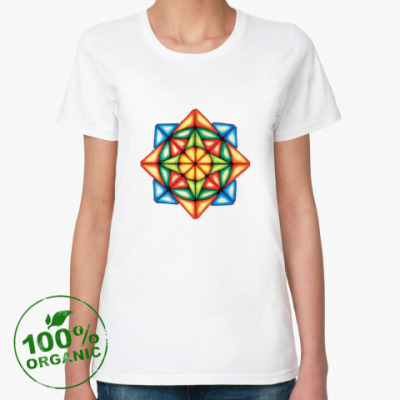 Женская футболка из органик-хлопка Калейдоскоп Август