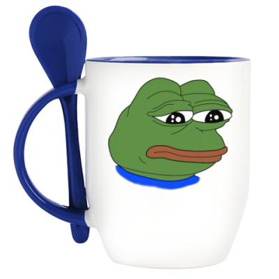 Кружка с ложкой Pepe Frog