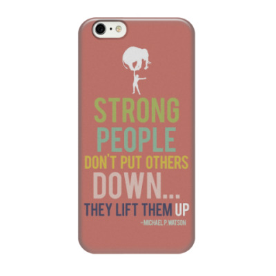 Чехол для iPhone 6/6s Michael P.Watson quote